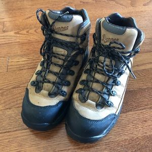 Danner GFX Tan Grey Hiking Work Boots Size 8.5 EE